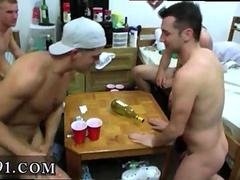 College boys play spin the bottle and suck dick