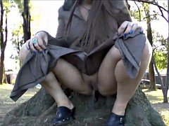Busty amateur exhibitionist Lolas public nudity and outdoor