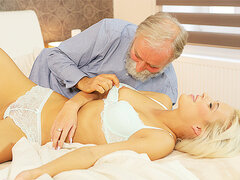 DADDY4K. Blond Hair Babe celebrates birthday together with...