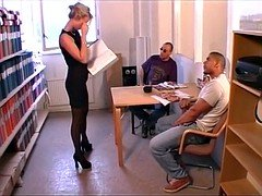Swedish threesome at work - Eva