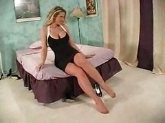 Eager mom blonde feet