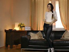 Russian casting cutie banged by dirty old man