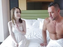 PornPros Large dick hotel make love with little Alice Merchesi