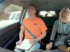 faux Driving school ash-blonde MILF Tiffany Russo Fucks