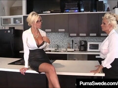 Office Breezies Puma Swede & Bobbi Eden Gobble Mouth-Watering CoWorker Gash