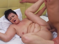 Taboo sex with granny and plus mature mom