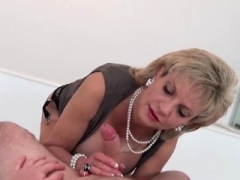 Cheating english sexually available mom lady sonia presents her enormous puppi