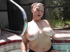 Dripping wet and plus nasty tit show in daisy dukes