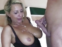 German Mom i`d like to fuck Hooker Jenni Fuck Youthful Virgin Boy For Money