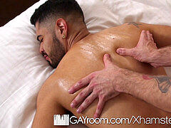 GayRoom Latino touch Down massage drill