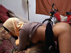 Teen Arab babe loves riding on a huge cock