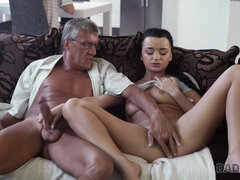 DADDY4K. Old and 18-years-old lovers have spontaneous sex...