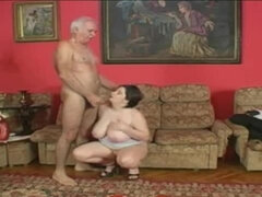 Old Silver Daddy Fucks BBW