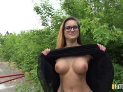 Young Fattie Shows Her Divine Big Natural Boobs For Cash