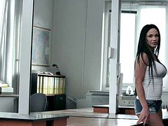Ass pounded eurobabe on table loves the pleasure