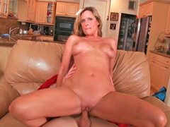 Fantastic milf Jodi with melons and also old pussy gets fucked hard