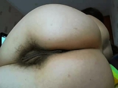 Close up hairy pussy pounded