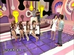 chinese game show broads pegged down, blindfolded and moreover tickled