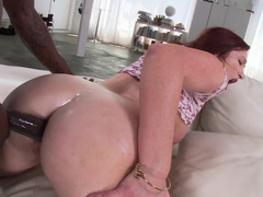 Black and also white anal action by brutal male and also slutty cutie