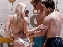 Amber Heard and Valentina Garcia Topless Sex Scene