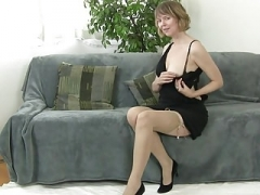 grown-up slut getting naked down and moreover jack off