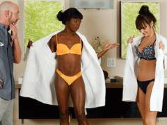 Hot Three-way action with ebony Ana Foxxx and also brunette Charlotte Cross