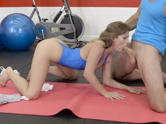 Sportive kitten has a ho intercourse with her coach
