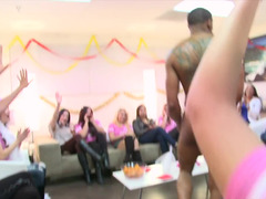 Bachelorette party is taking a actual sexy turn when a lad enters