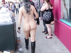 True Exhibitionist Naked in Public