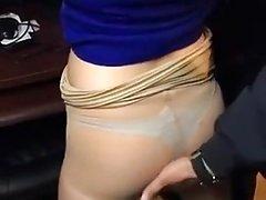 Pantyhose Fondling