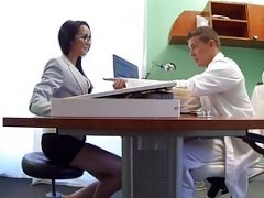 Fake Hospital Doctors thick phallus stretches hot Portuguese