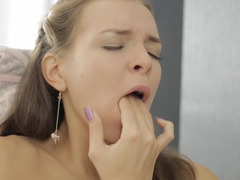 As underwear comes off, this young female commences to jerk off