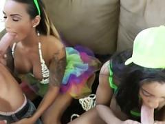 Natalia Mendez and moreover Valentina Vega - Mad Make love Party Two Amat