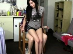 A truth or dare game gets filthy college chicks giving blowjob on one dick