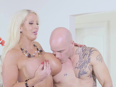 Lucky hubby fucks his wife and mistress together
