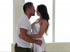 Kissing and moreover caressing massage