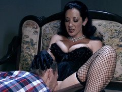 A chick with black hair is getting her drenched vag licked positively well