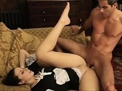 Large ass maid gets fucked in uniform
