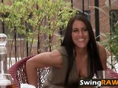 Swingers swap partners and plus have fun in reality show