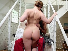Breasty housewife getting down and dirty her husband