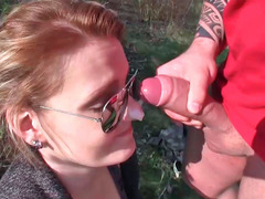 Meggie and plus Vera sucking peckers and plus getting nailed