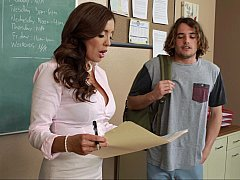 Aroused teacher forces student