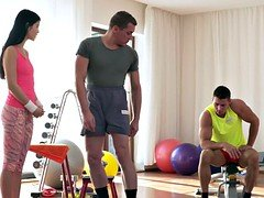 A couple of guys gets down and dirty fitness teen coach