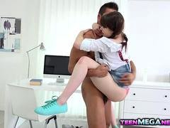 Excited Luna Rival loves huge flag pole in her tight ass