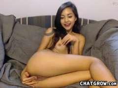 Naughty Asian Teen With A Dildo