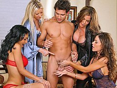 Four Women and furthermore one lucky man!