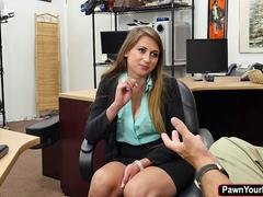 Ivy Rose is desperate that she gets down and dirty a large fuck pole for money