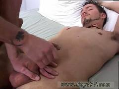 Two adorable butt pirates love jerking off their schlongs together