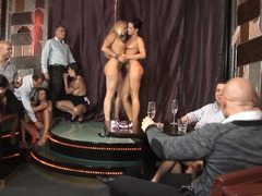 Sexy gals are making an group orgy in the hot and additionally kinky group orgy clip