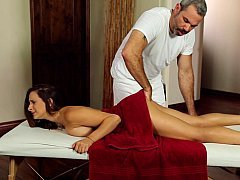 Her number one time on a massage table